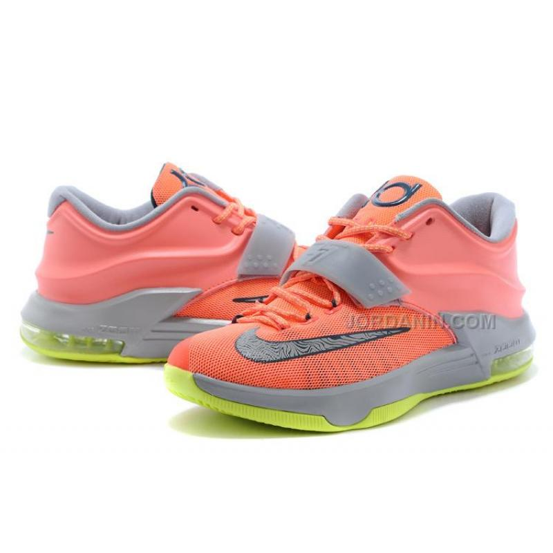 "1bbfda7faa41 ... Nike Kevin Durant KD 7 VII ""35000 Degrees"" Bright Mango Space Blue  ..."