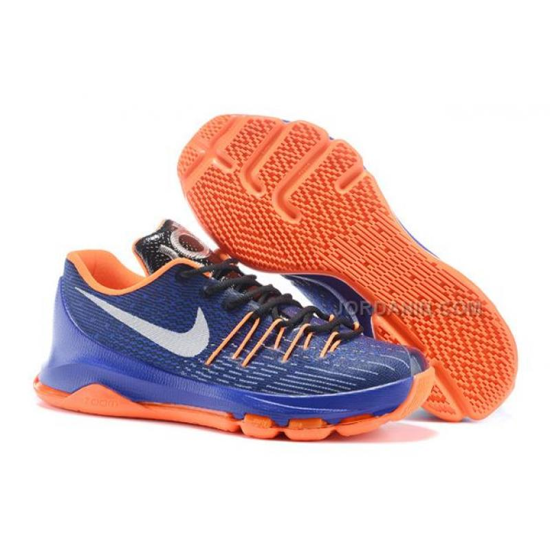"the latest 5b4d0 ae5c3 USD  78.00. Cheap KD (VIII) 8 Basketball Shoes ""Away"" Blue Black Orange Sale  ..."