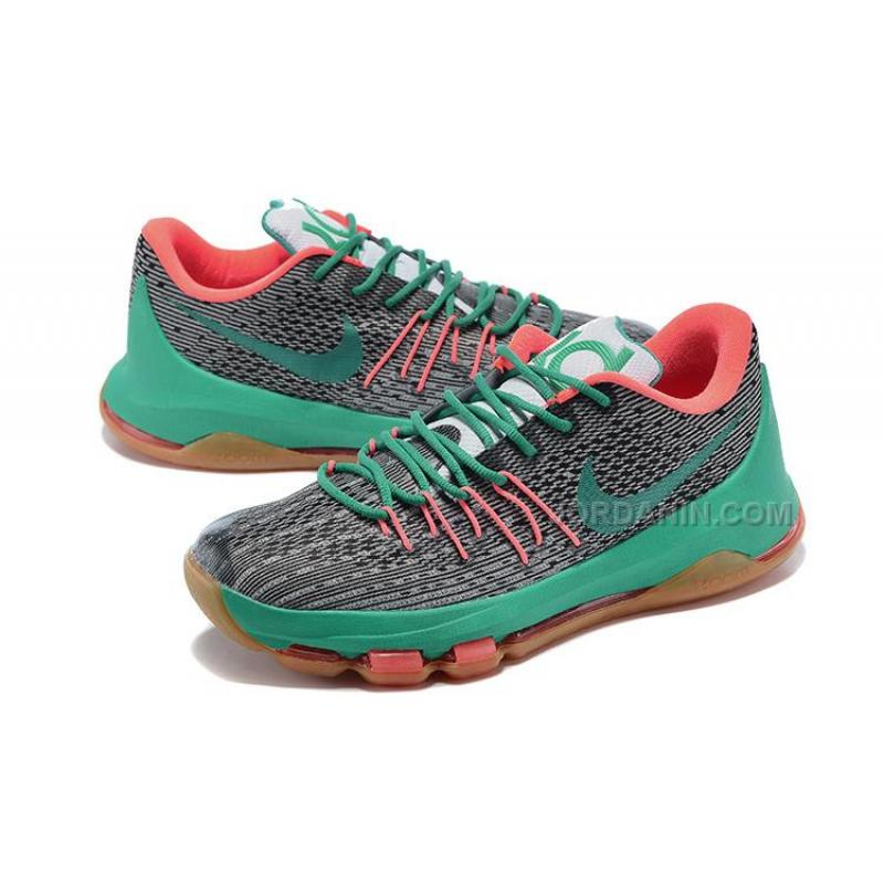b58d1be6ed23 ... New Colorway Nike KD 8 (VIII) Shoes Dark Grey New Green-Orange ...