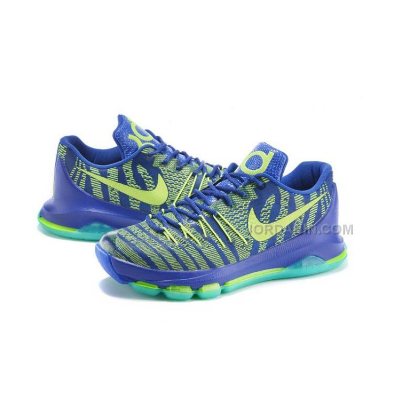 """online store 4bfee efcd6 ... 2015 For Sale New Arrival Cheap KD 8 Shoes """"Sprite"""" Hyper Cobalt ..."""