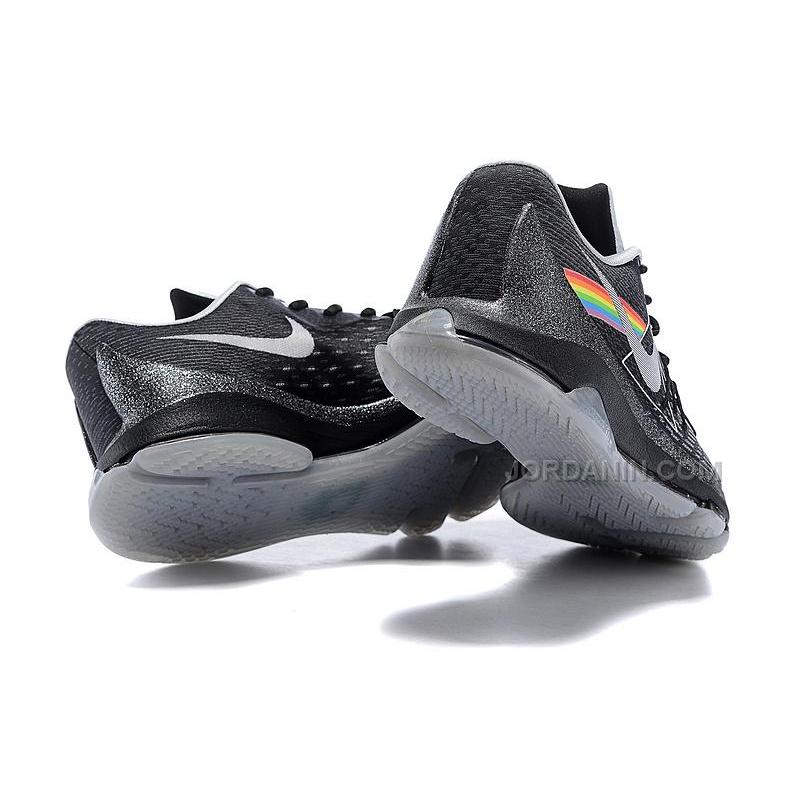 "cba9c7de331d ... 2015 New KD 8 Shoes ""Dark Side Of The Moon"" Black Grey Cheap Sale ..."