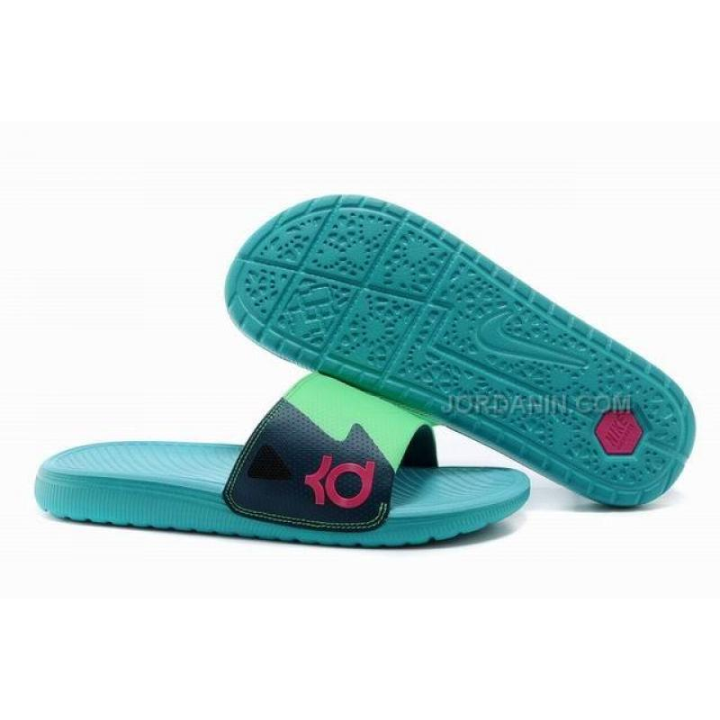 check out f5514 c138a Discount Nike Solarsoft KD Slide Jade-Green