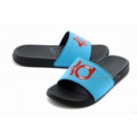 Nike KD Black Blue Red Slippers For Sale New
