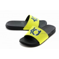 Nike KD Black Yellow Blue Slippers For Sale New
