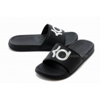 Nike KD Black White Slippers For Sale New
