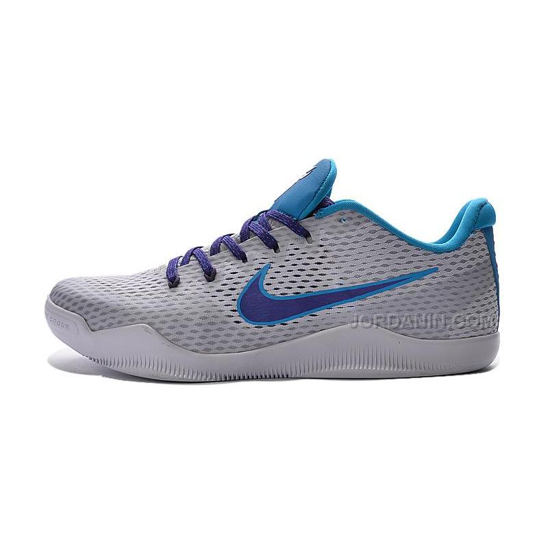 "073df457781b ... New Nike Kobe 11 ""Draft Day"" White Blue Lagoon-Court Purple 2016 ..."