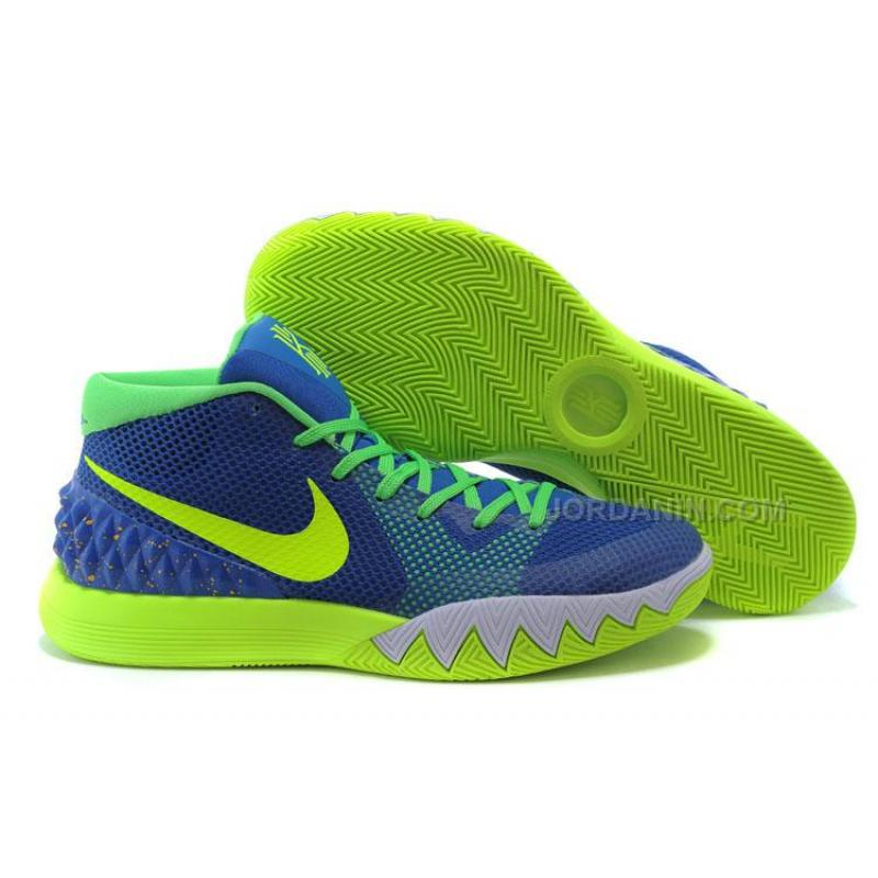 separation shoes 9cd00 a45f0 Online Nike Kyrie 1 Blue Fluorescent Green