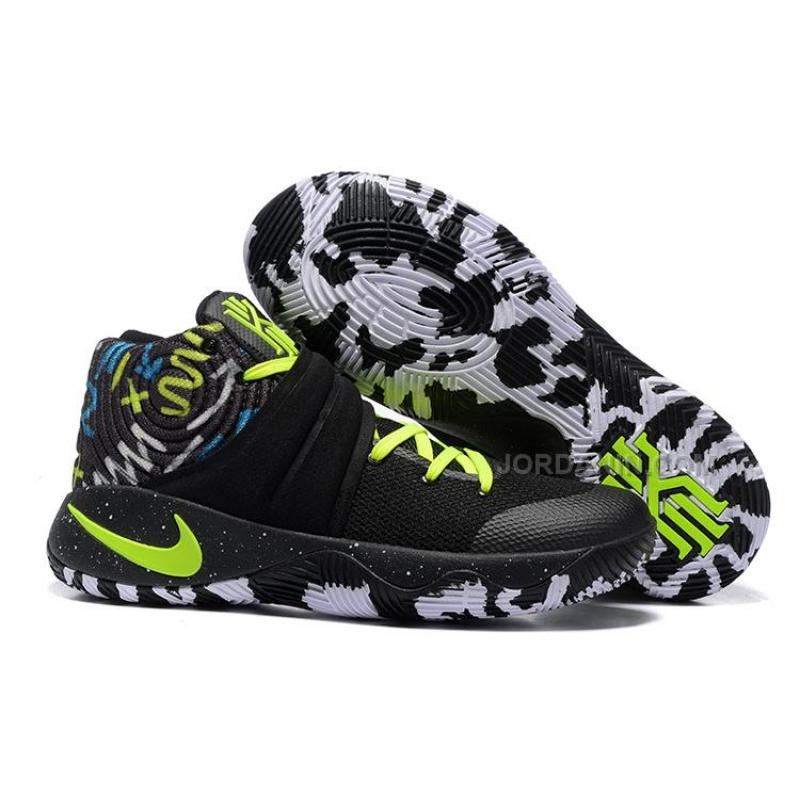 on sale 43fde 8055c Nike Kyrie 2 Black White Volt Free Shipping