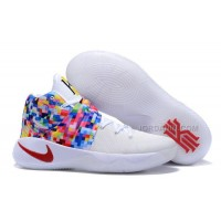 """New Nike Kyrie 2 """"Effect"""" White-Red/Multi-Color"""