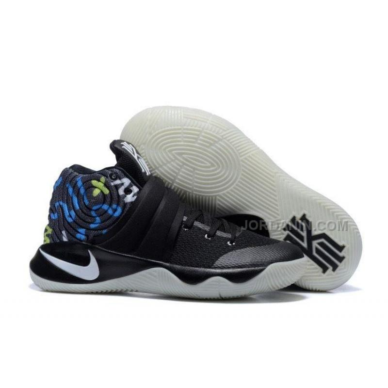 d832fdc4f22b New Nike Kyrie 2 Black Multi-Color Basketball Shoes