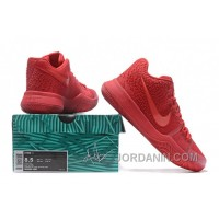 Nike Kyrie 3 Mens BasketBall Shoes All Red Discount Zn6pj