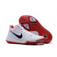 Nike Kyrie 3 Mens BasketBall Shoes White Red Discount 6nyQnX