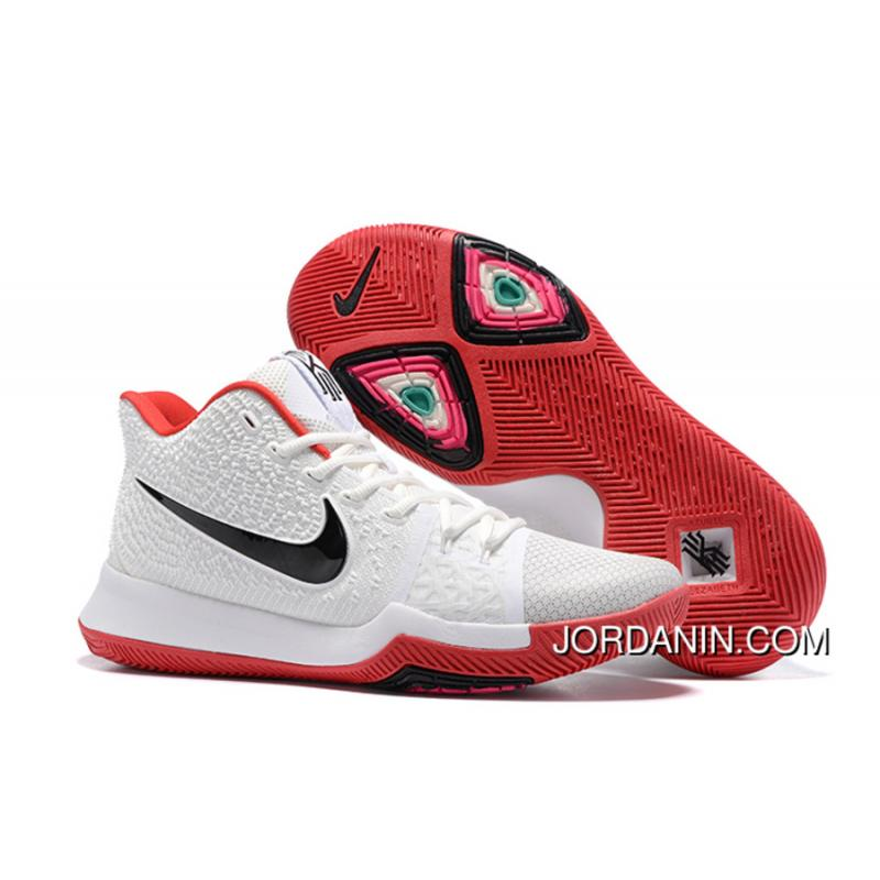 best sneakers 25a3b a6243 Nike Kyrie 3 White Red Black Best