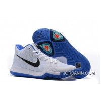 "Nike Kyrie 3 ""Duke"" White Blue Black On Sale New Release"