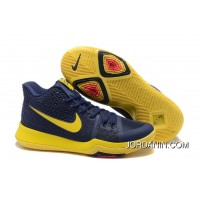 "Nike Kyrie 3 ""Cavs"" Blue Yellow On For Sale"