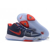 Nike Kyrie 3 Obsidian Blue/White-Red On Sale New Release