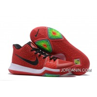 Nike Kyrie 3 University Red/Black-White On Sale Lastest