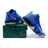 Nike Kyrie 4 Mens Basketball Shoes Royal Blue Discount