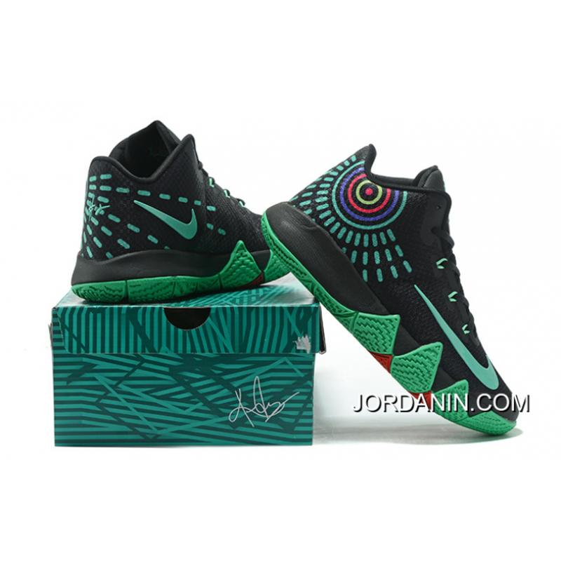 Nike Kyrie 4 Mens Basketball Shoes Black Green Discount ...