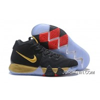 New Release Nike Kyrie 4 Black Gold Red