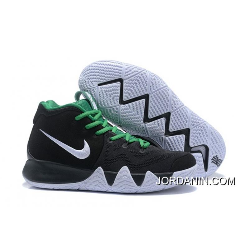 the latest f46a4 5c604 New Style Nike Kyrie 4 Black White Green