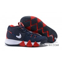 """Super Deals Nike Kyrie 4 """"USA"""" Navy Blue/White-Red"""