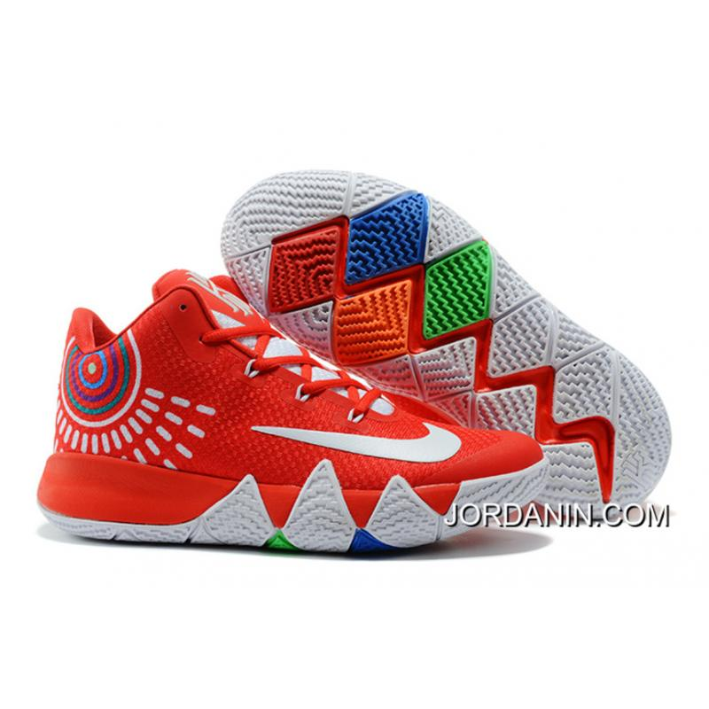 cheap for discount 52247 e7566 Nike Kyrie 4 Red White Super Deals
