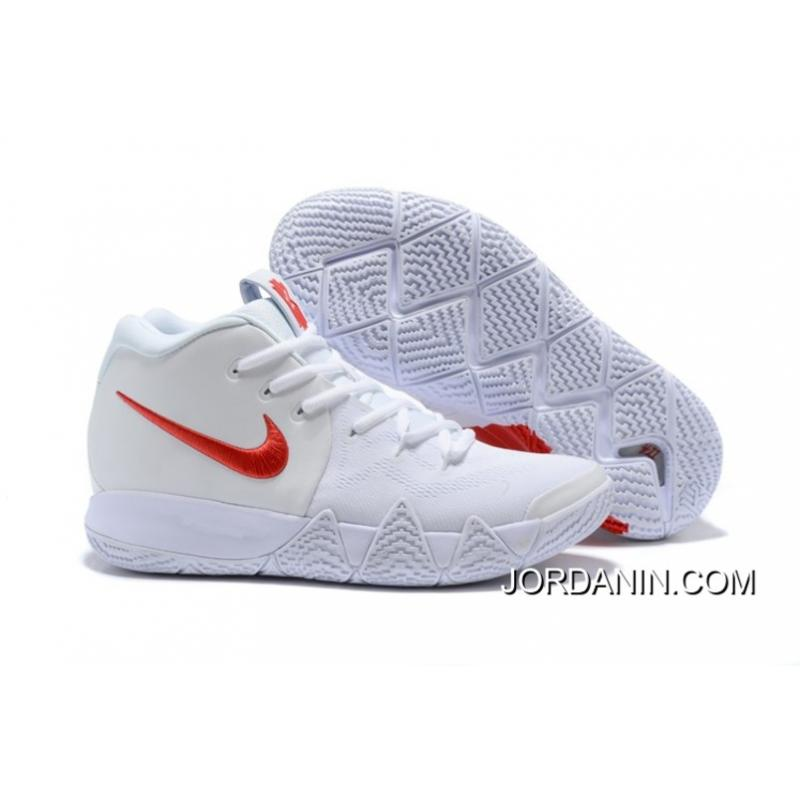 "sports shoes d48eb ee754 Online Nike Kyrie 4 ""Half Heart"" White Red"
