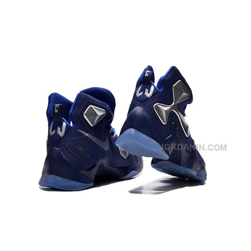 8acb0696c8b ... Cheap 2015 Lebron James 13s Shoes Blue Silver Color Basketball Sneakers  Online ...
