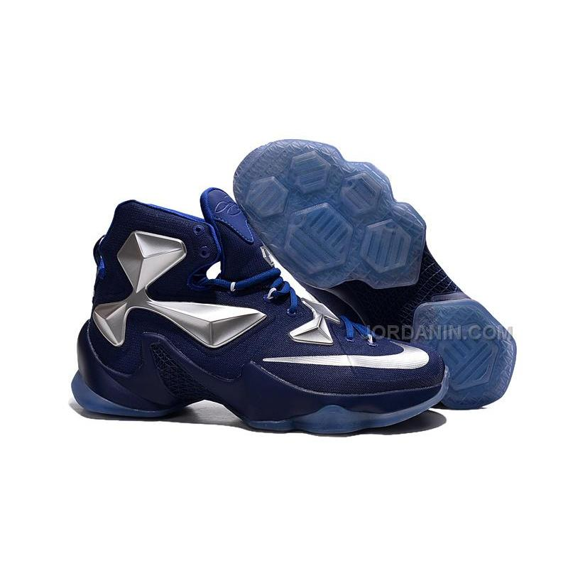 bf46cbc3177 ... Cheap 2015 Lebron James 13s Shoes Blue Silver Color Basketball Sneakers  Online