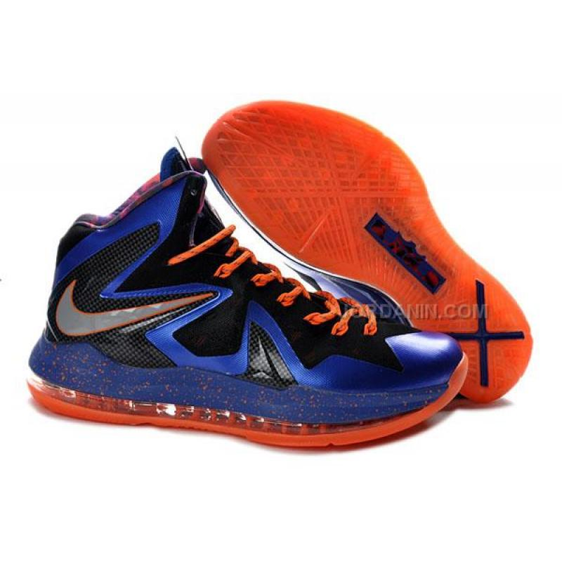 39f735444ad7 USD  78.00. Nike LeBron 10 P.S. Elite Royal Blue Orange ...