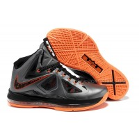 New Nike Zoom LeBron 10(X) Silver/Orange