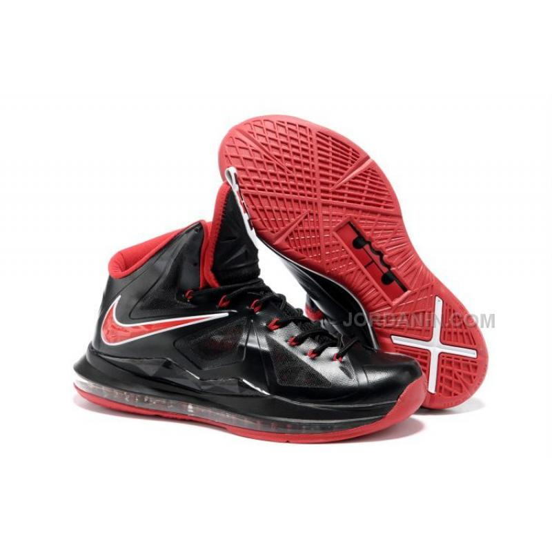 new products 41077 910f3 Nike Zoom LeBron 10(X) Black/Red Cheap, Price: $85.00 - New Jordan ...