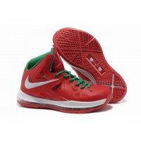 Hot Nike Lebron 10 Christmas Shoes Red/White/Green