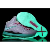 Hot Nike Zoom Lebron 10 Luminous Limited Edition Shoes Gray/Pink