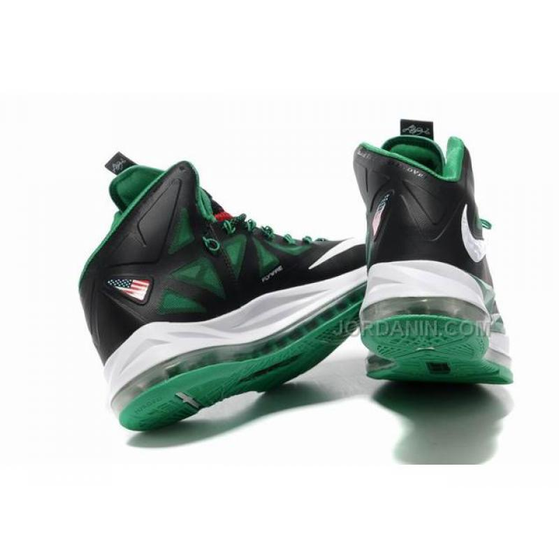 new style ff270 16304 ... Hot Nike Zoom Lebron 10 Shoes Black Green White ...