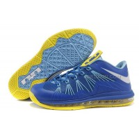 Nike Lebron X Low Shoes Blue/Jade/Yellow Online