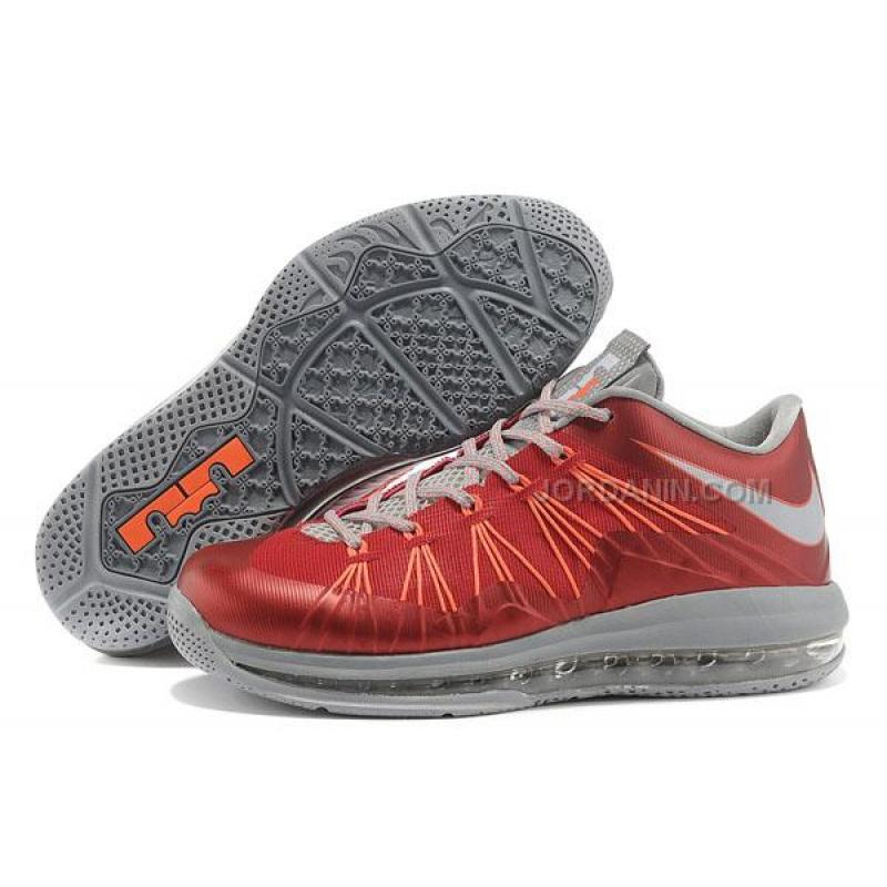 f0e194e7447 Nike Lebron X Low Shoes Red Grey Orange Online