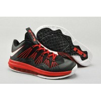 Nike Air Max Lebron X Low Black/Red/White For Sale