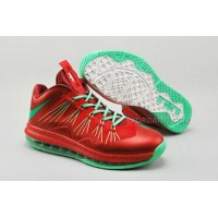 """Nike Air Max Lebron X Low """"Christmas"""" Red/Green New Arrival"""