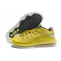 Nike Air Max Lebron X Low Yellow/Grey New Arrival