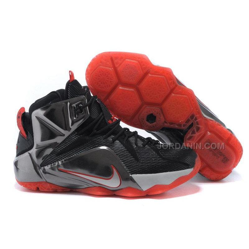 info for 19d8d 2c7d4 New Arrival Nike LeBron 12 XII Black Silver