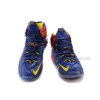 NIKE Lebron James 12 Blue And Red Cheap