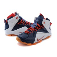 New 2015 Lebron James Nike Shoes White Blue