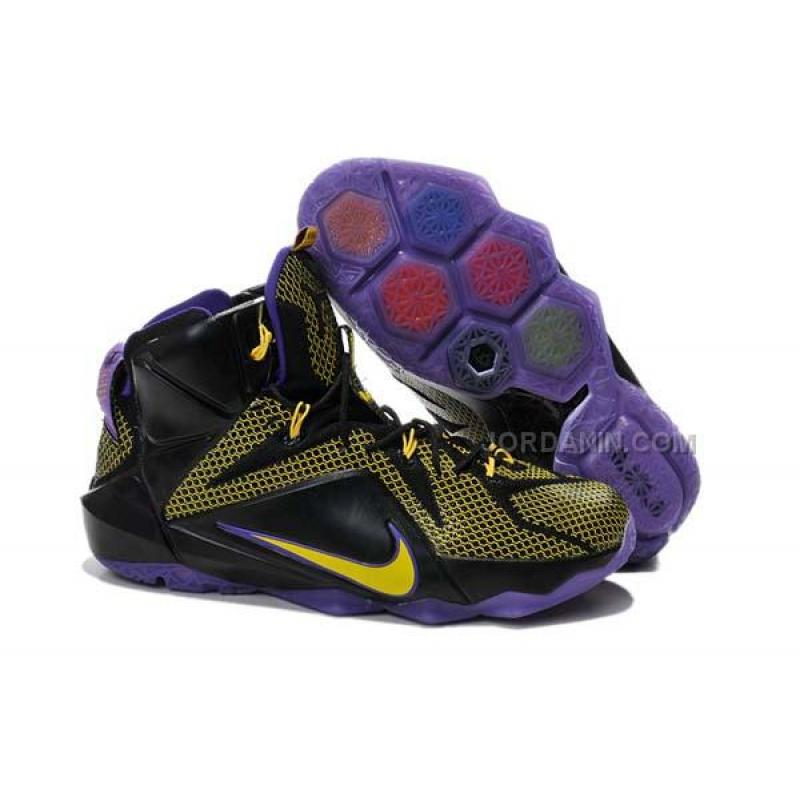 e849912eaf768 USD  74.00. Nike LeBron 12 P.S. Elite Yellow Black Purple ...