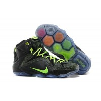 Nike LeBron 12 Black-Volt For Sale Cheap Online New