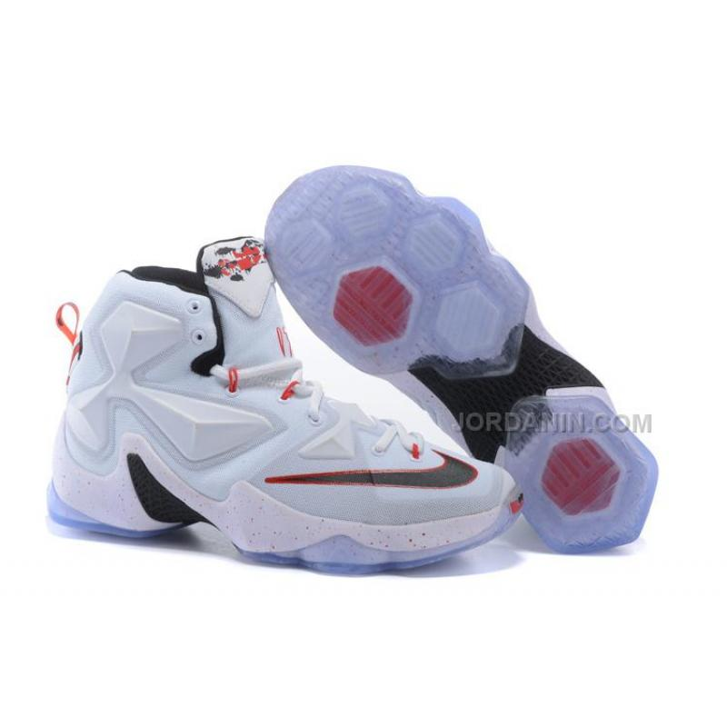 uk availability b04ba e7936 Hot Nike LeBron 13 White Red Black
