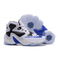 Nike LeBron 13 White Black Royal Blue Sale