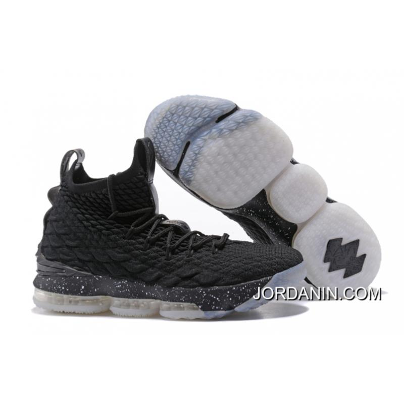 "fcd1755b19be USD  90.68  235.78. Nike LeBron 15 ""Oreo"" Black White Top ..."