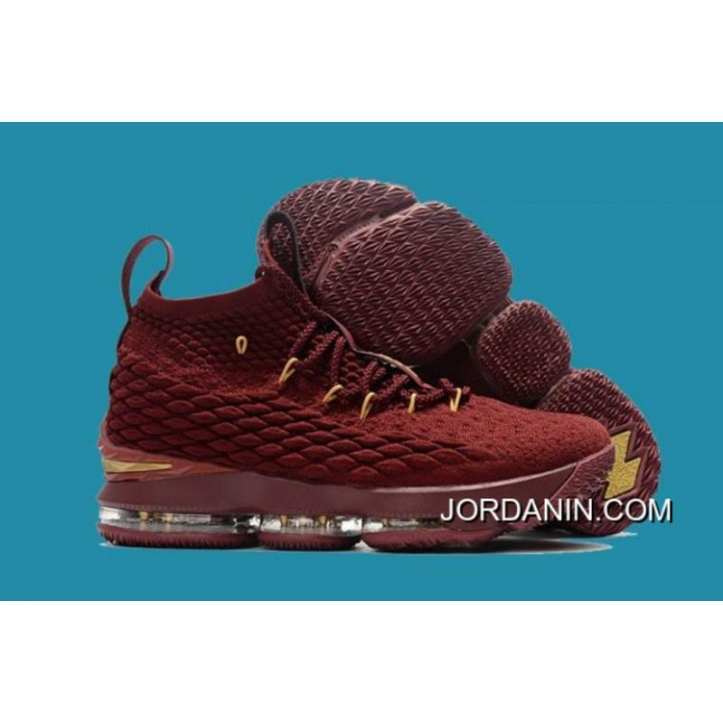 best loved ec7f5 e7800 New Release Nike LeBron 15 'Wine' Wine Red/Gold